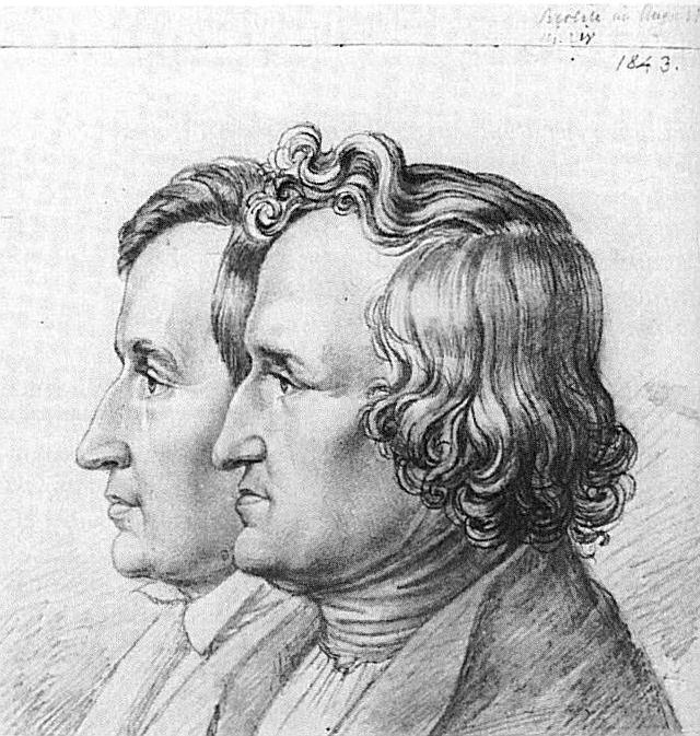 Den aawe oopaa en et kènskènd door de gebroeders Grimm, ca 1812